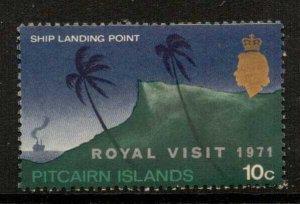 PITCAIRN ISLANDS SG115 1971 10c ROYAL VISIT NMH