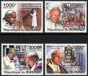 Burundi MNH 931-4 Pope John Paul II 2011