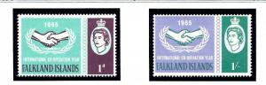 Falkland Is 156-57 MNH 1965 Intl Cooperation Year