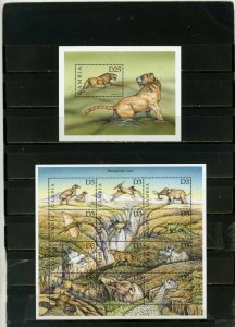 GAMBIA 1999 PREHISTORIC ANIMALS SHEET OF 12 STAMPS & S/S MNH