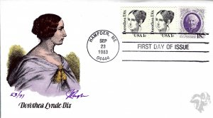 Pugh Designed/Painted Dorothea Lynde Dix FDC...53 of Only 71 created!