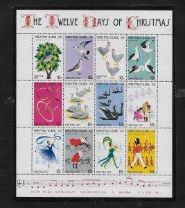 BIRDS - CHRISTMAS ISLAND #86  THE 12 DAYS OF CHRISTMAS  MNH