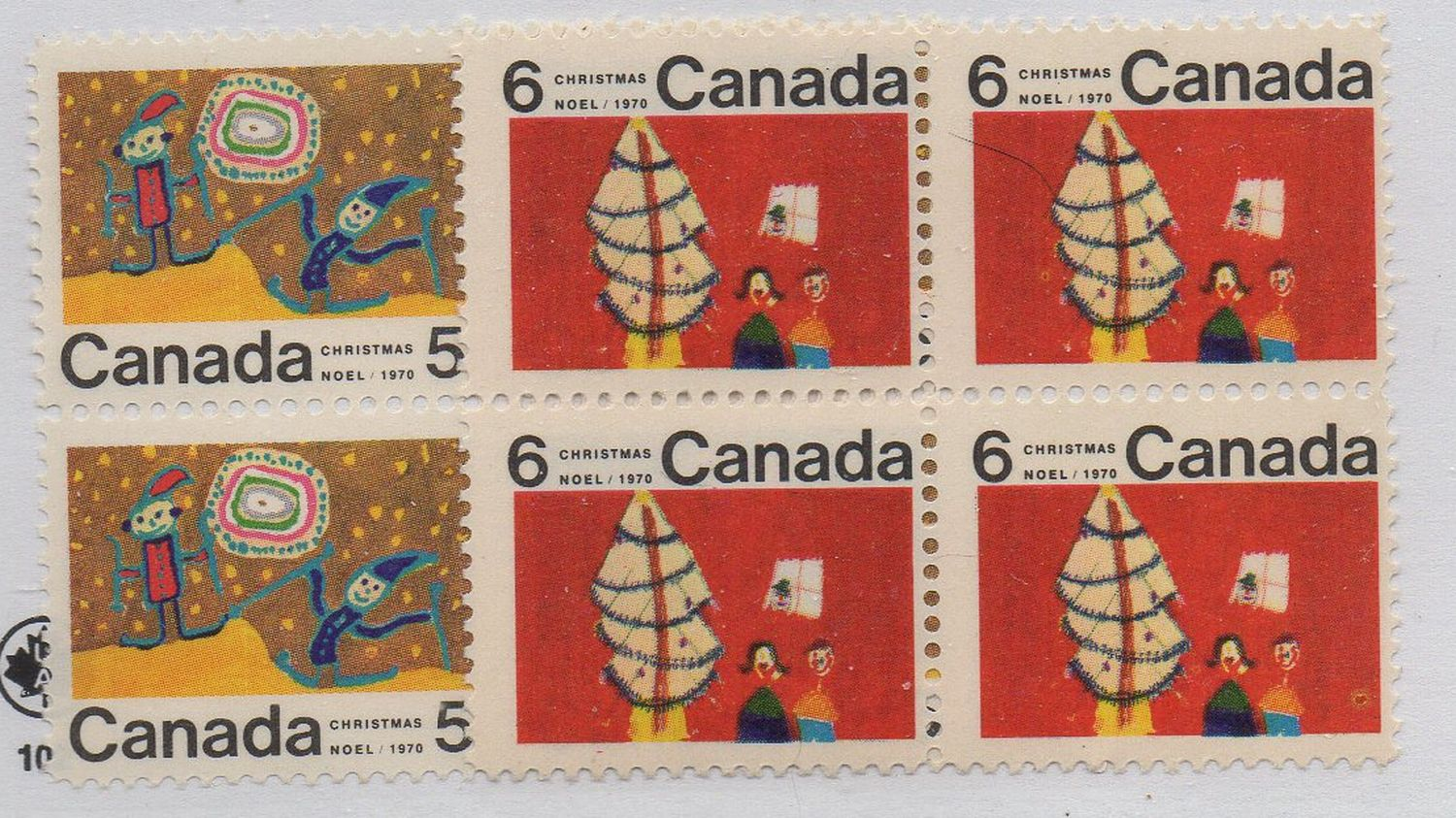 Canada Sc 522 525 1970 Christmas Centre Blocks Of 4 Mint NH HipStamp