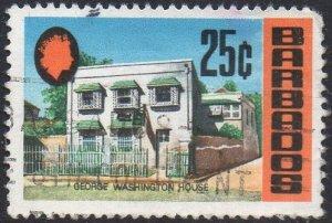 Barbados 1970 25c George Washington House used