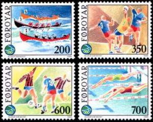 STAMP STATION PERTH Faroe Islands #193-196 Fa188-191 MNH CV$6.00