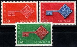 Monaco #689-91 F-VF Unused CV $5.40 (X1472)