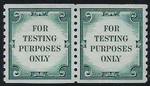 TD109 XF-Sup Scarce Green Test / Dummy Pair Mint NH Cat $150