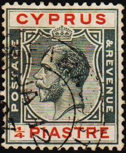 Cyprus. 1924 1/4pi S.G.103 Fine Used