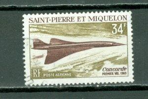 ST.PIERRE & MIQUELON  CONCORDE  #C40...USED..$12.00