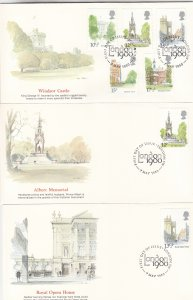 1980, Great Britain: Famous Buildings, Grp 6, FDC (S18765)