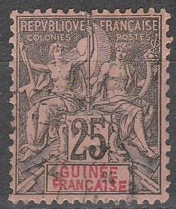 French Guinea #10  F-VF  Used  CV $8.00 (A12993)