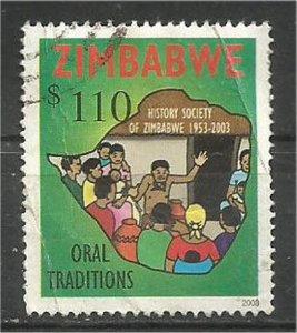 ZIMBABWE, 2003, used $110, People listening Scott 931