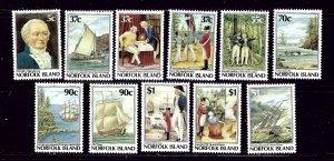 Norfolk Is 426-36 MNH 1987-88 set