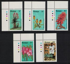 Kenya Medicinal Herbs 5v Top Left Corners SG#430-434