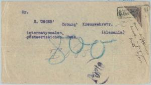 74142 - PERU - POSTAL HISTORY -  BISECTED STAMP on COVER - Not in BUSTAMANTE