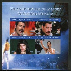 Chad 2021 30th Memorial  Anniversary  of Freddie Mercury im sh mint never hinged