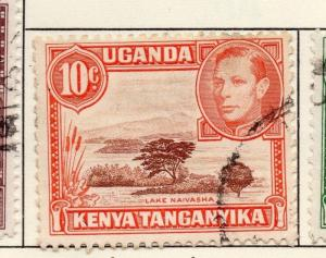 British KUT Uganda 1938-54 Early Issue Fine Used 10c. 027062