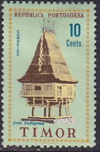 Timor 302 Hinged 1961 House on Stilts