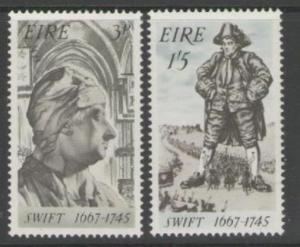 IRELAND SG237/8 1967 JONATHON SWIFT MNH