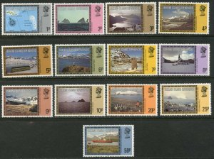 "FALKLAND IS. DEP. Sc#1L38-50 ""1984"" Dated Scenes Complete Set OG Mint Hinged"
