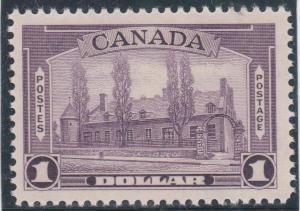 Canada - 1938 $1 Chateau de Ramezay Mint #245 NH