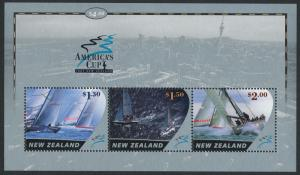 New Zealand 1827a,b MNH America's Cup Yacht Race, Stampshow Melbourne o/p