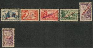 Fr. India Sc#135-139 M/H/VF, Complete Set, Cv. $470
