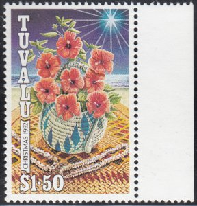 Tuvalu 1992 MNH Sc #624 $1.50 Flowers, shell necklaces - Christmas