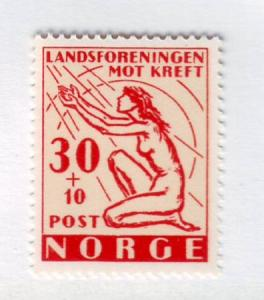 Norway Sc B53 1953 Cancer Research stamp mint NH