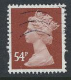 GB QE II Machin - SG Y1728   Used  54p 2 Bands