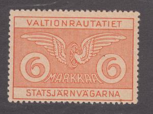Finland HS 55 MLH. 1924 6m State Railway Stamp