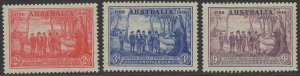 AUSTRALIA SG193/5 1937 NEW SOUTH WALES MNH