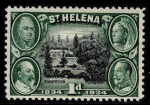 ST. HELENA GV SG115, 1d black & green, M MINT.