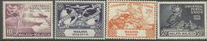 MALAYA , 101-104, H, UPU