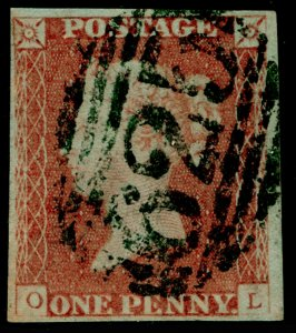 SG8, 1d red-brown PLATE 83, FINE USED. Cat £35. OL