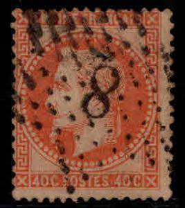 FRANCE Scott 35 Napoleon 1862