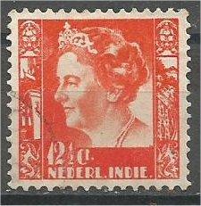 NETHERLANDS INDIES, 1934, used 121/2c, Queen Wilhelmina, Scott 174