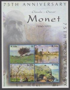 St Kitts 498 Souvenir Sheet MNH VF