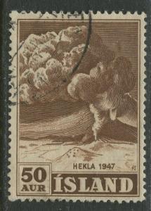 Iceland - Scott 249 - General Issue -1948 - VFU - Single 50a Stamp