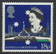 Great Britain SG 1397  Used   - Australia BiCentenary