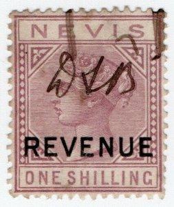(I.B) Nevis (St Kitts) Revenue : Duty Stamp 1/- (1883)