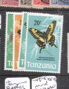 Tanzania Butterfly SC 44-5, 48-9 MNH (5dms)