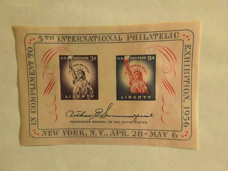 U. S. #1075  Souvenir Sheet  OG   HR