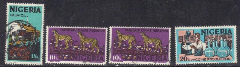 NIGERIA SC# 297,300,301  *USED* 10,18,20k  1973-74    SEE SCAN