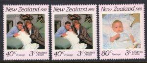 New Zealand B134-B136 MNH VF
