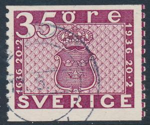Sweden Scott 257 (Fa 252), 35ö plum Post Office, F+ U