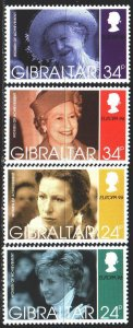 Gibraltar. 1996. 755-58. Queen, europe-sept. MNH.