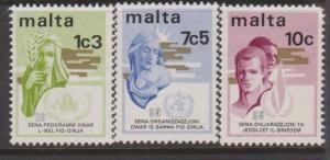 Malta Sc#472-474 MNH