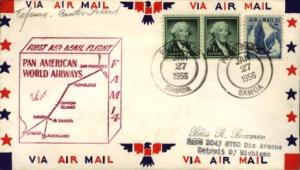 United States U.S. First Flight 1c Washington 1954 Liberty (2) and 4c Eagle i...