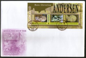 Micronesia 2005 Hans Christian Andersen Author Sc 665 M/s FDC # 19100